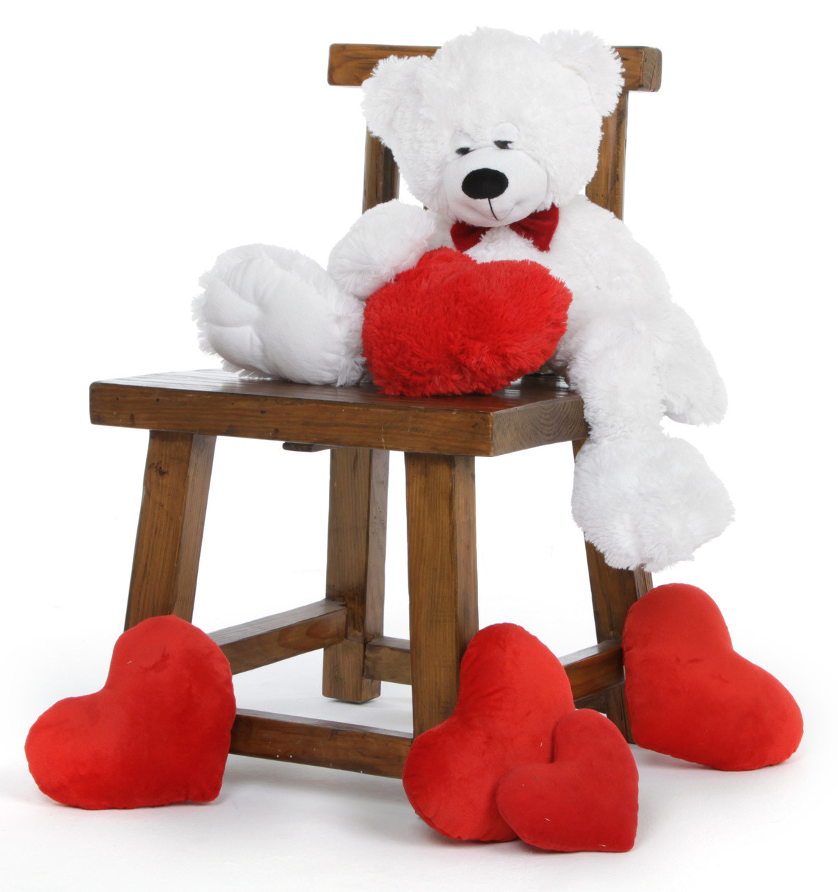 "24"" Paw mittens Snoozy Valentines day teddy bear"