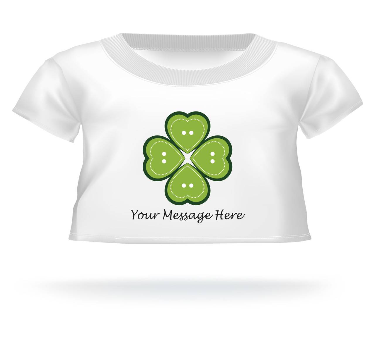 ff7641821 St. Patrick's Day Heart 4 Leaf Clover Giant Teddy Bear Personalized Shirt