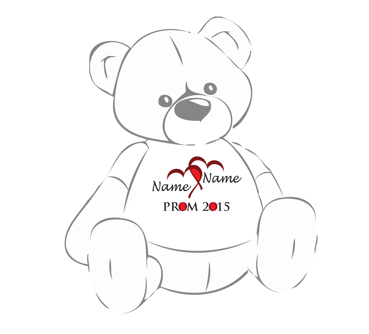 Prom 2015 Personalized Teddy Bear Shirt