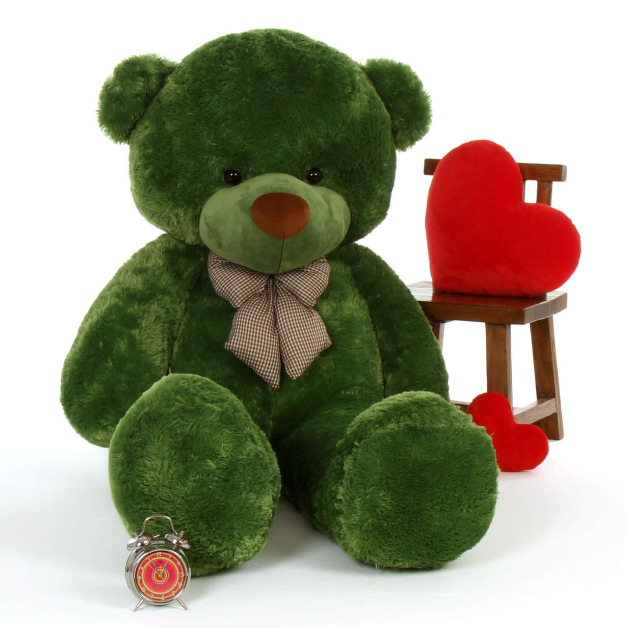 6ft Green lucky teddy Life Size bear cuddly Giant and biggest cuddles bear