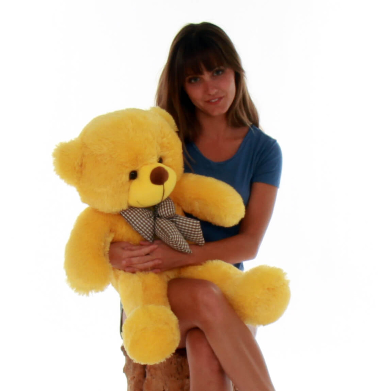 2.5ft super huggable Big Yellow daisy Teddy Bear Cuddly  perfect Giant Teddy cuddles
