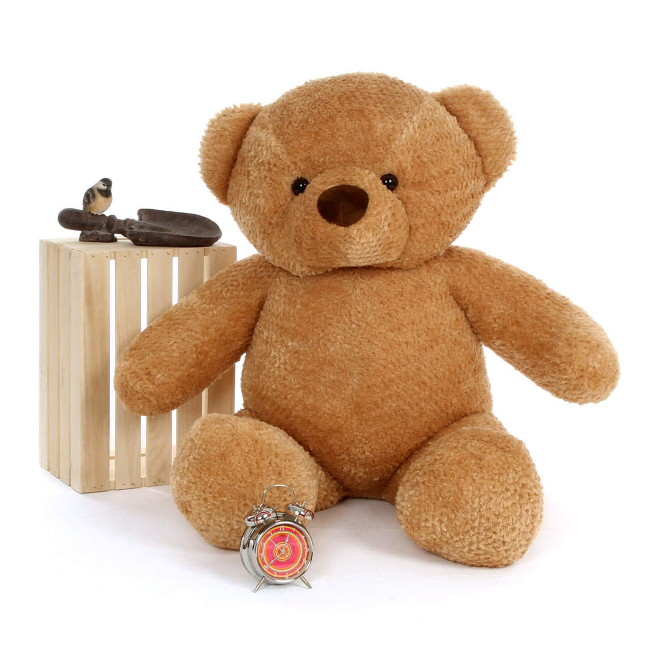 Big Amber Teddy Bear Cutie Chubs 48in