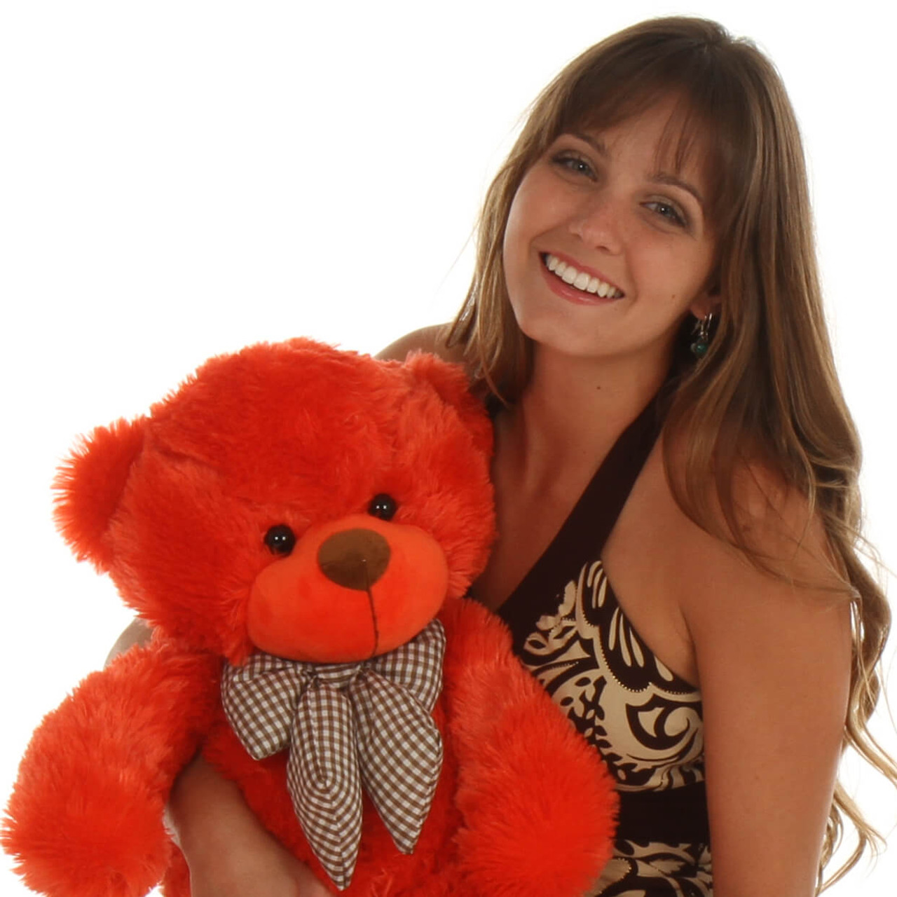 2ft  Big soft Teddy Bear Lovey Cuddles Beautiful Orange Red Fur