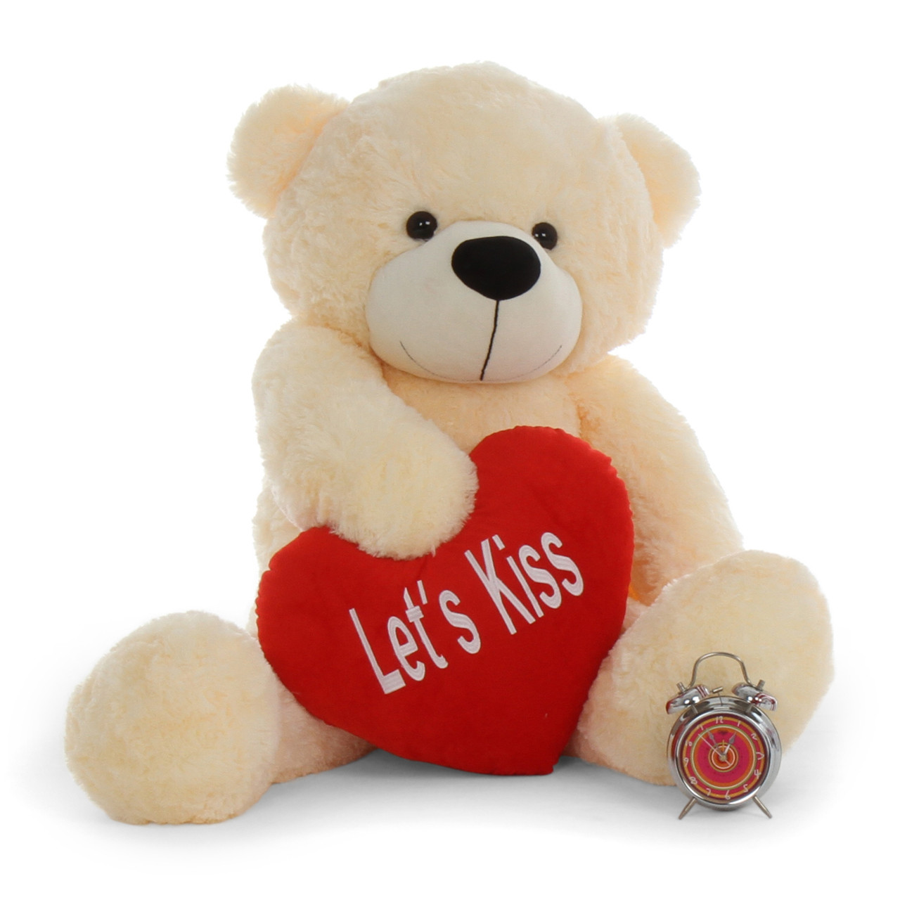9893e9e6754 4ft Best Gift Teddy Bear for Valentine's Day with Let's Kiss plush Cuddles