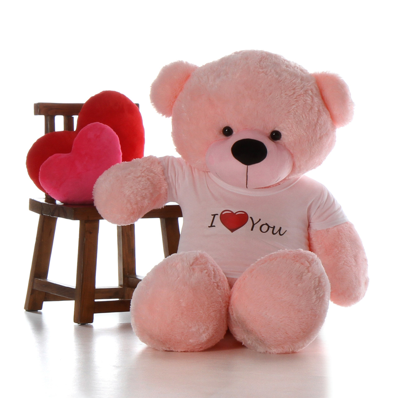 5ft Life Size Giant Teddy For Valentine S Day Pink Lady Cuddles With