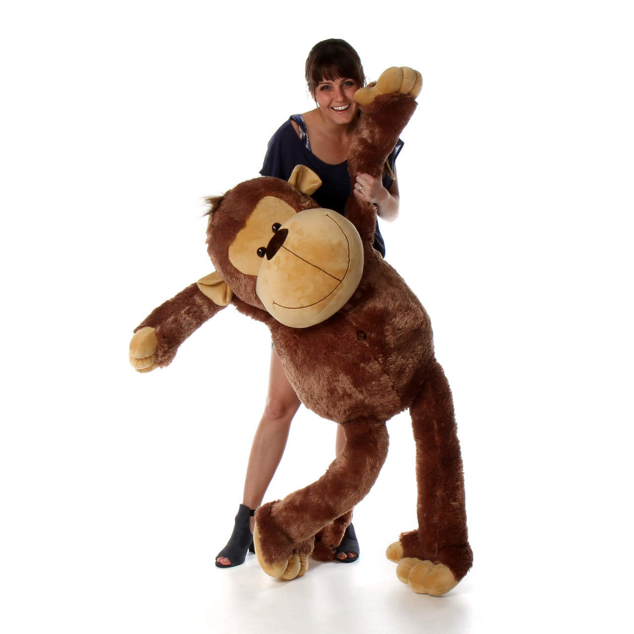 58in Life Size Giant Stuffed Friendly Monkey gift from Giant Teddy brand