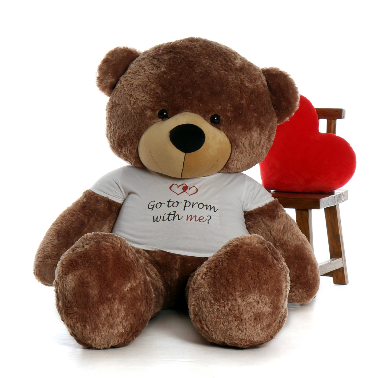 Life Size 6ft Go To Prom With Me Teddy Bear Sunny Cuddles Mocha Fur