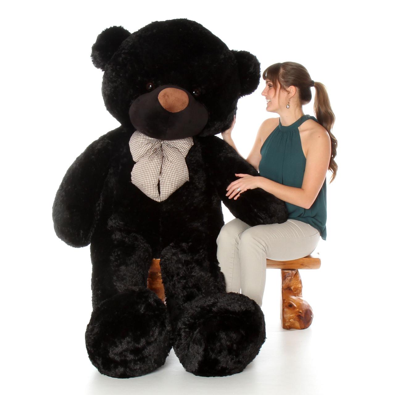72in Life Size Teddy Bear Huggable Cuddles soft and huggable black bear