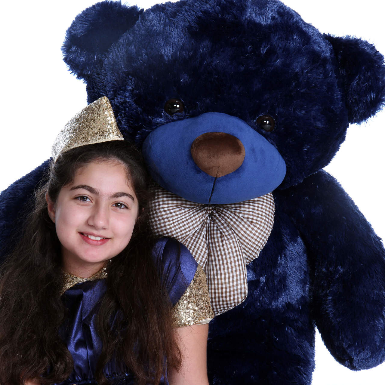 4ft Giant Teddy Navy Blue Bear Royce Cuddles Family