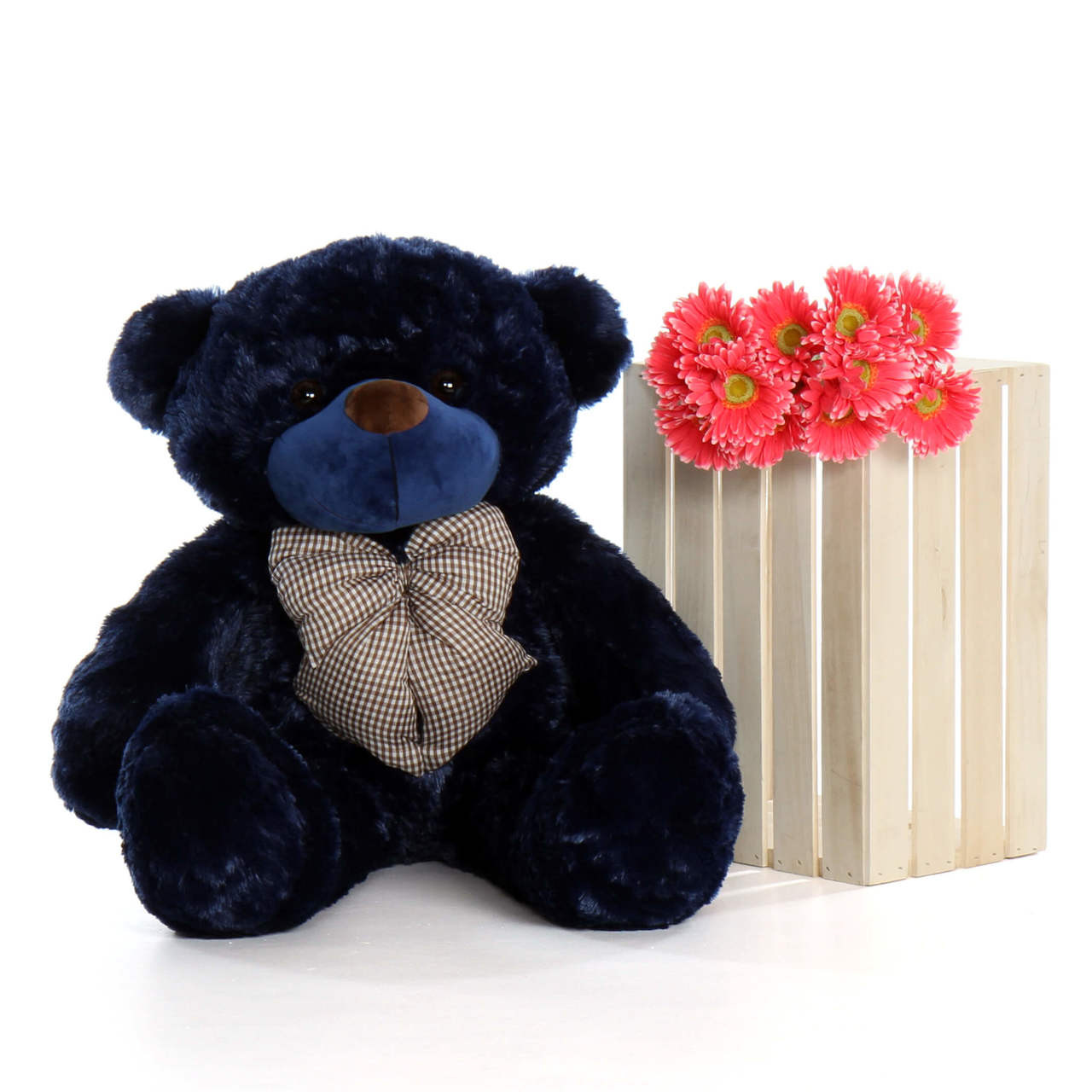 3ft Teddy Bear Navy Blue Royce Cuddles