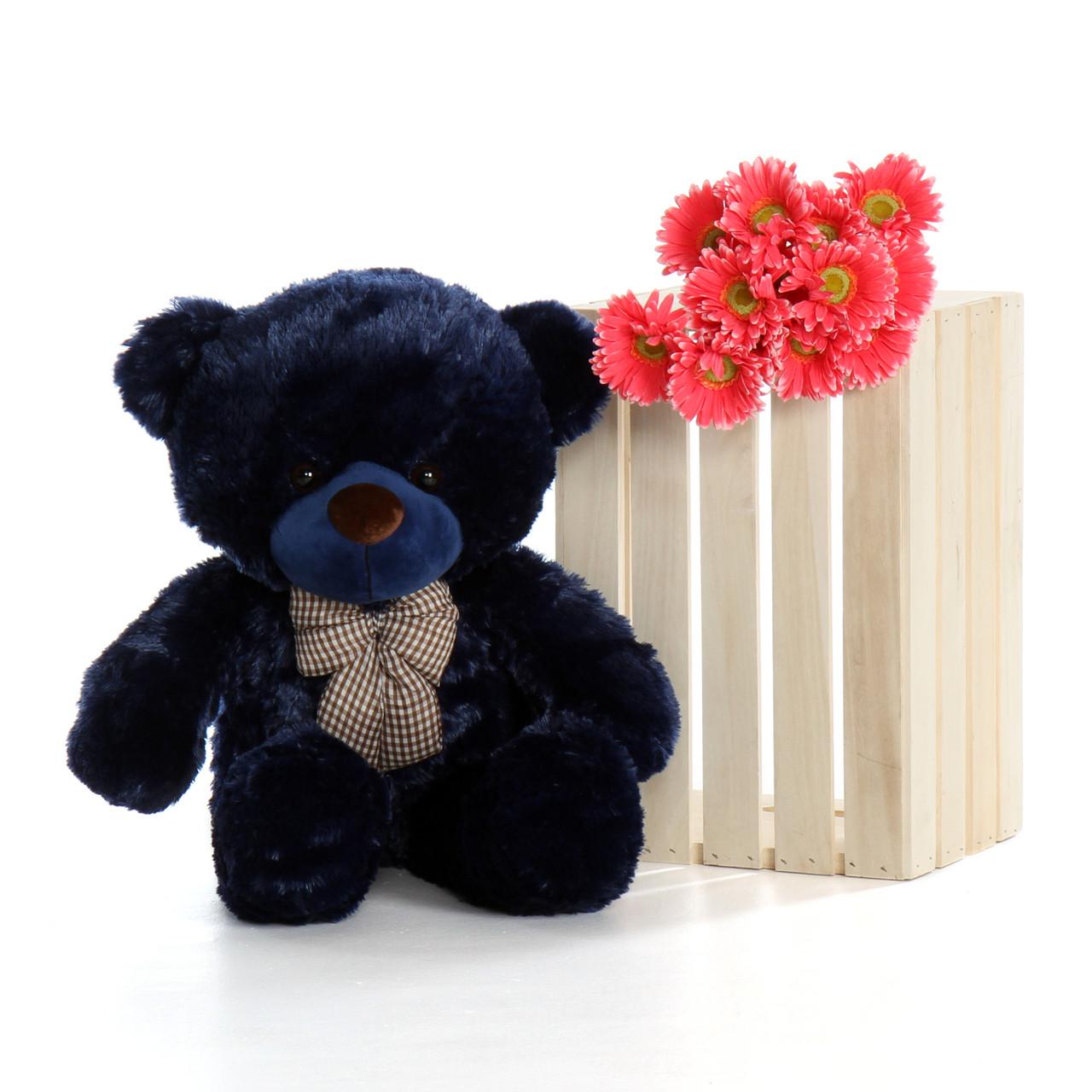 30in Royce Cuddles Navy Blue Teddy Bear