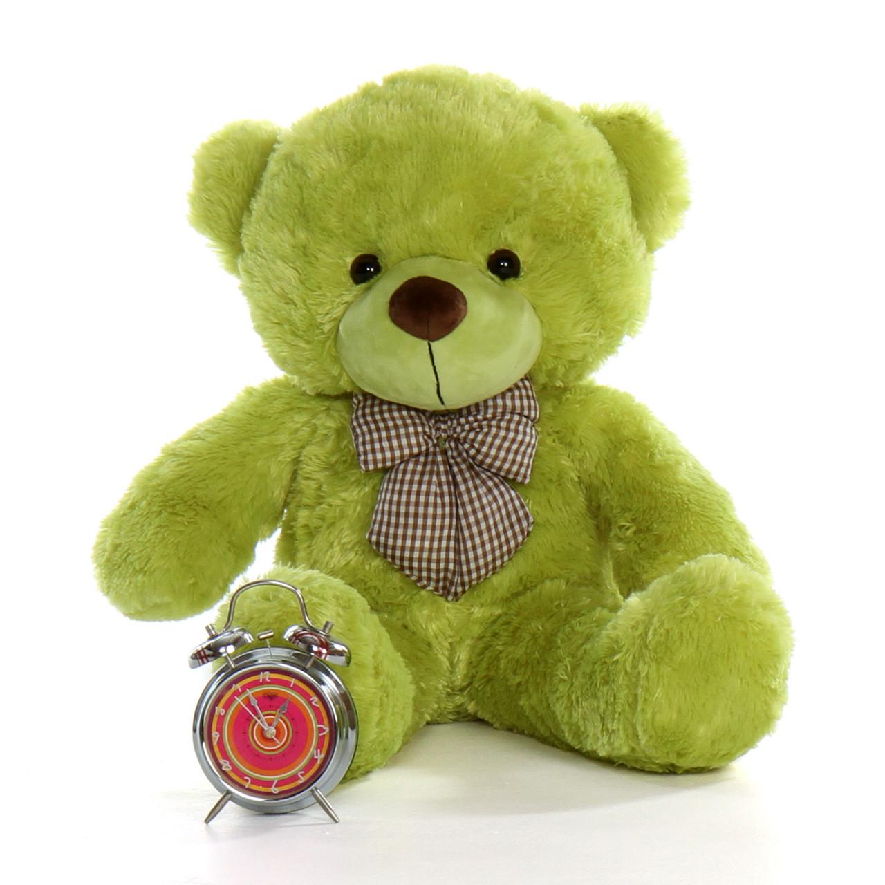 2.5ft Lime Green Giant Teddy Bear Ace Cuddles