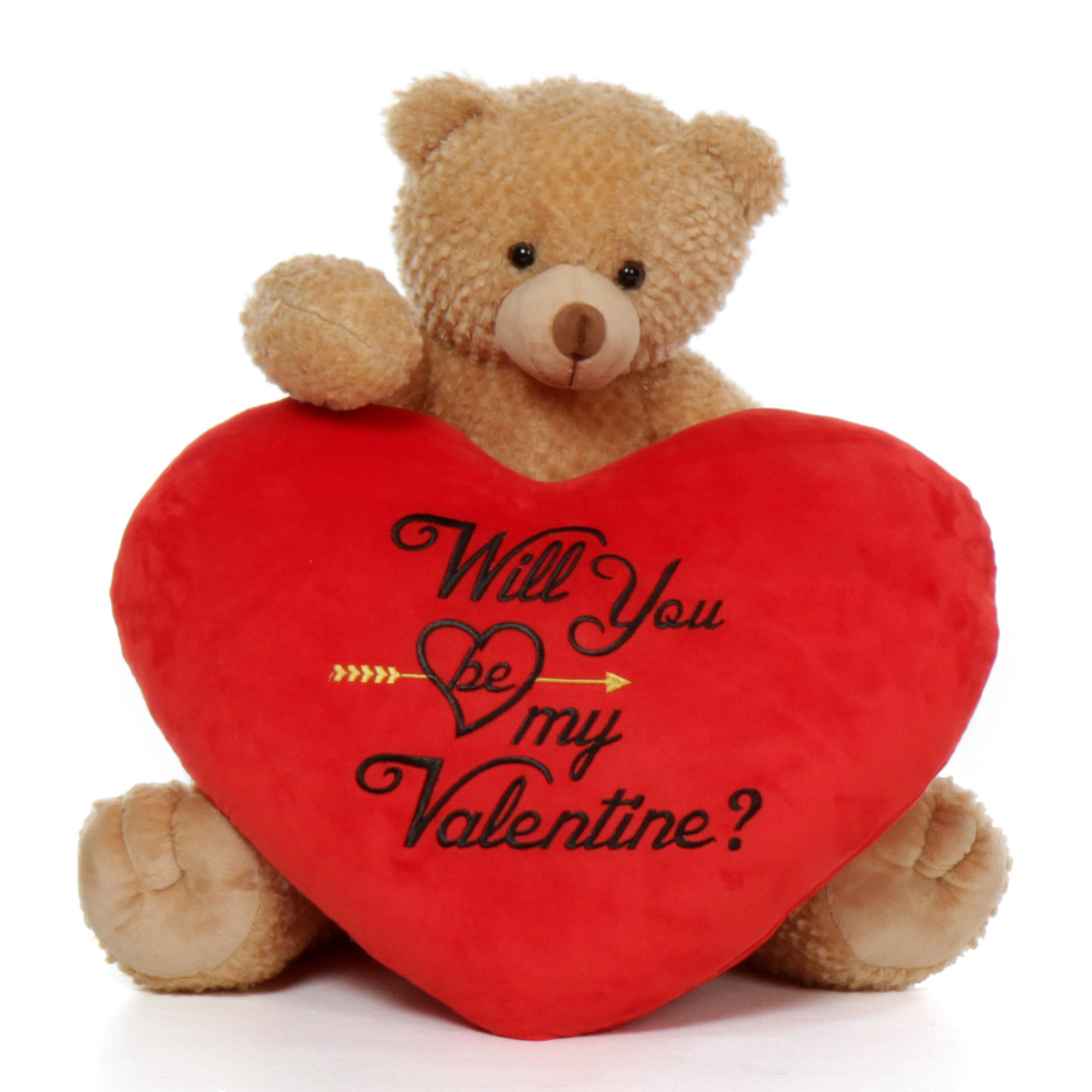 95c1ac8a3d8 24'' Amber Honey Tubs Valentine's Day Bear with Will You Be My Valentine  Plush