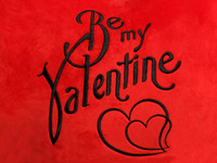 Be my Valentine Heart Design (Close Up)