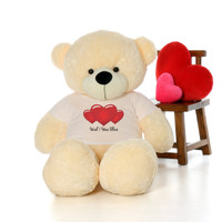60in Cozy Cuddles Vanilla Cream Bear by Giant Teddy in Wish I Was There T-Shirt