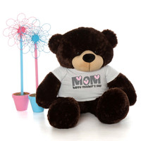 48in Chocolate Brown Brownie Cuddles Happy Mother's Day Mom Teddy Bear