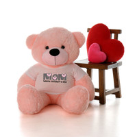 48in Pink Lady Cuddles Happy Mother's Day Mom Teddy Bear