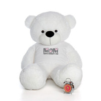 60in White Coco Cuddles Happy Mother's Day Mom Teddy Bear