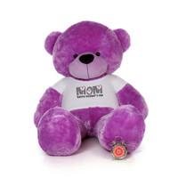 72in Purple DeeDee Cuddles Happy Mother's Day Mom Teddy Bear