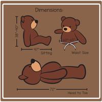Cuddles Dimension 6ft