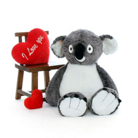 45 inch Koala with I love you Red Pillow Heart