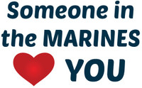 Someone in the Marines Loves You Teddy Bear T-shirt