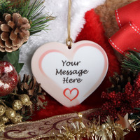 Personalized Christmas Ornament - Heart Shaped