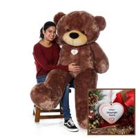 5 Foot Mocha Brown Sunny Cuddles Giant Teddy Bear - Unique Christmas Gift
