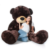 Giant Teddy 7 Foot Chocolate Brown Teddy Bear Premium High Quality Stuffed Animals