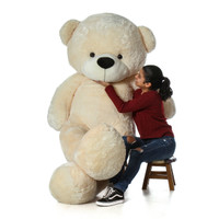 Giant Teddy Brand Biggest Premium High Quality Teddy Bear in Beautiful Cream Color