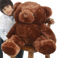 Buttercup Chubs chestnut brown teddy bear 38in