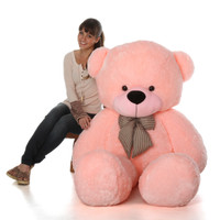 Life Size Pink Teddy Bear Lady Cuddles 72in