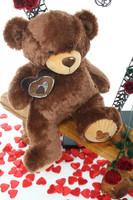 2.5ft Enroumous Hazelnut Teddy Bear Sweetie Pie Big Love