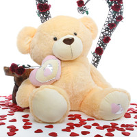 47in Honey Pie Big Love butterscotch cream teddy bear