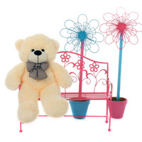 Giant Teddy Bear Vanilla 2 FT