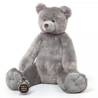 4ft Grey Sugar Tubs Teddy Bear