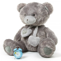45in Silver grey teddy bear Angel hugs