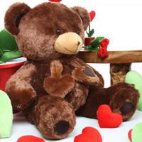 36 inches Huge Lucky Hugs Chestnut Teddy Bear