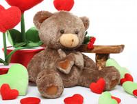 Cheeky Hugs mocha brown teddy bear 36in