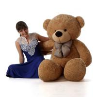 60in best Life Size Teddy Bear Shaggy Cuddles soft amber brown fur