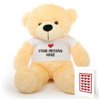 A 38 inch Cozy Bundle of Personalized Teddy Bear Love!