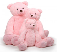 65 inches Darling Tubs Extra Cuddly and Soft Pink Teddy Bear