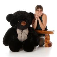 Life Size Black Teddy Bear Juju Cuddles 48in