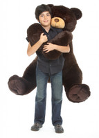 52in Life Size Baby Tubs Cuddly Chocolate Brown Teddy Bear