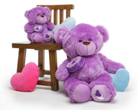 Sewsie Big Love Pretty Lavender Teddy Bear 36 in