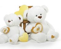 4 foot Chomps Big Love White Teddy Bear