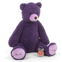 42in Purple Teddy Bear Violet Woolly Tubs