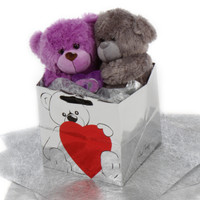 Ultimate Soulmates Big Love Bear Purple and Silver Teddy Bear
