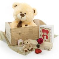 "Love Doctor Bear Hug Care Package featuring 20"" BooBoo Shags"