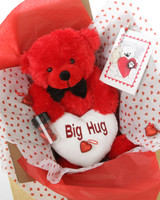 18in Red Teddy Bear Package He Loves Me